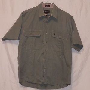 Men's Green Browing Short Sleeve Shirt Size XL